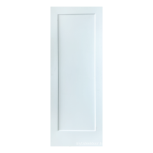 Shaker Style White Prime wood doors for house mdf sheet more cheaper puertas de cuarto GO-T01
