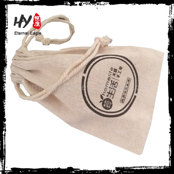 Hot recommended customized logo printed canvas drawstring pouches with high quality