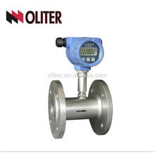 flange or thread connect turbo liquid and gas digital water turbine meter