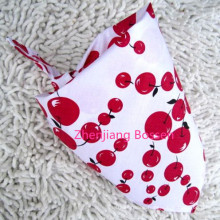 Promotional Custom Made Cherry Printed Girls Cotton Triangle Bandana