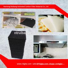 toutes sortes de filtre à air de charbon de carbone de filtre à charbon actif pour la voiture / cuisine / climatisation filtre à air de cabine de carbone