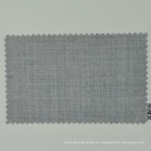 Italiano Loro Cadini raya gris claro Natrual peinado 100% lana cómoda tela para hombres