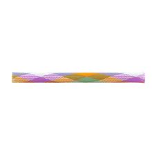 Manchon tressé en PET multicolore en option