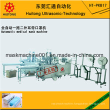 Automatic Ultrasonic Medical Outside Mask Making Machine of 3 Earloop Welding Machines