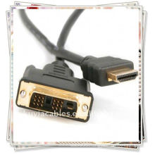 high quality 1.8m 6FT DVI 24+1 to HDMI cable gold plated For HD 1080P PC LCD Computer Cable Cord