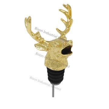 Paraer de vino de cabeza de ciervo personalizado, Pourer de vino de ciervo