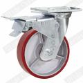 Roda de rodízio de giro de PU de núcleo de ferro resistente (G4209)