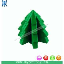 Игрушка для домашних животных с резиновым деревом Рождественский подарок