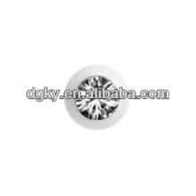1.6mm klarer Kristall Edelstahl Jeweled Ball