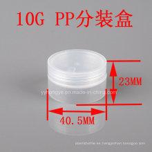 10g de plástico transparente PP vaciar tarro cosmético