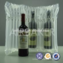 Hot vendas alta qualidade vinho coluna embalagem bolha airbag para sacos de embalagens de garrafa de vinho para uma garrafa de vinho