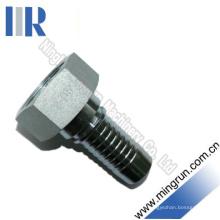 Raccord de tuyau hydraulique métrique à filetage femelle avec écrou pivotant (20511)