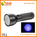Factory Supply CE Custom Made Aluminum Metal 390-395nm 51 led uv Torch Flashlight For Scorpion
