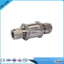 Compressor miniature one way fuel check valve