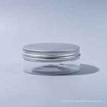 30ml Pet Jar Plástico Wide boca frasco para doces para alimentos para sorvete para alimentos cosméticos grau com tampas de alumínio