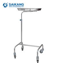 SKH038-2 Simple Hospital Medical Aço Inoxidável Mayo Trole
