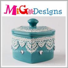Boîte à bijoux en céramique de vente chaude à la maison d'OEM