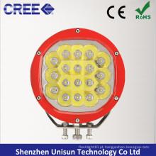 """180mm 7 """"12V-24V 90W CREE LED Offroad Condução Luz"""