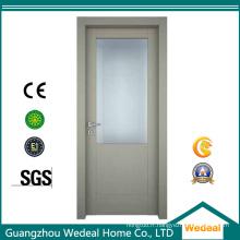 Porte en bois composite MDF HDF affleurante peinte avec des verres