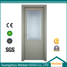 Painted Composite Wooden MDF HDF Flush Door with Glasses