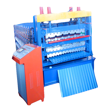 Three layer roof roll forming machine