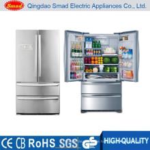 Französischer Kühlschrank aus Edelstahl mit großer Kapazität und Eiswürfelbereiter