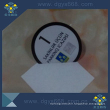 Security Car Window Paper Sticker with Silver Foil Embossing