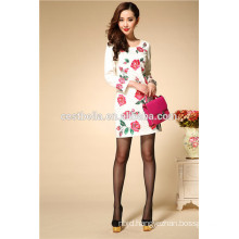 Top Quality embroidered dresses autumn winter women dresses long sleeve ladies dress