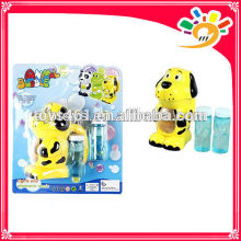 Cute cartoon dog full automation bubble machine toy electric bubble machine with two bottles of bubble water
