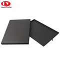 Black silk scarf gift box with black foil
