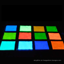 brilho no pigmento escuro, pigmento fotoluminescente para pintura