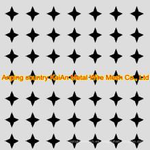 Acero inoxidable agujero redondo perforado de la malla perforada / agujero hexagonal / agujero de la estrella ---- 34 años fábrica