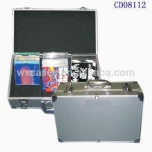 caja de CD de aluminio alta calidad CD 60 discos (10mm) de la fábrica China de ventas por mayor