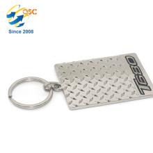 Llavero grabado personalizado de encargo de alta calidad del logotipo grabado de encargo del metal de la etiqueta