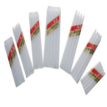 Ghana market white stick candle
