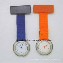 Relógio de enfermeira barato Fob com banda de tecido de Nylon