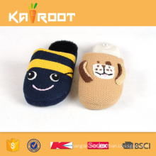 fur winter cute plush animal emoji slipper for kids