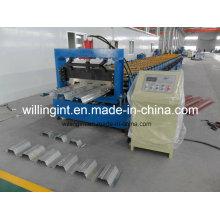 Профилегибочная машина для производства настилов стального пола