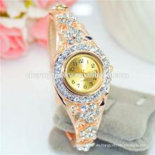 Reloj de lujo del brazalete del Rhinestone de la manera de la alta calidad para las mujeres B086