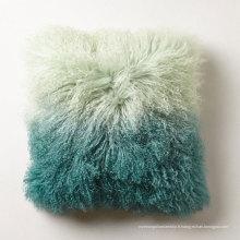 Classique personnalisé tibet agneau fourrure tissu canapé oreiller