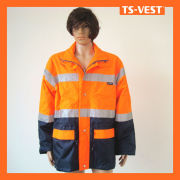 Roadway reflective safety protective jaket