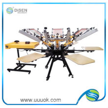 Six color manual textile screen printing machine