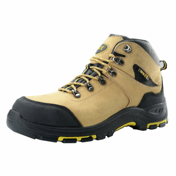 Yellow Nubuck Leather Work Safetoe Shoes