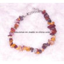 Moda De Piedra Natural De Los Hombres De Las Mujeres Cristal De Perlas Chakra Mookite Carming Pulsera