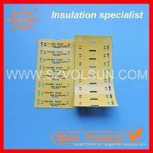 Etiqueta de fio elétrico de identificação de cabo de plástico