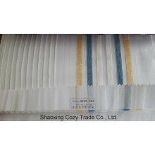 Nuevo popular proyecto de rayas Organza Voile Sheer tela cortina 0082123