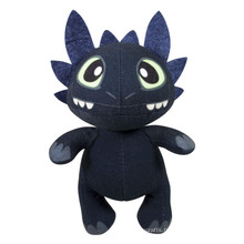customized OEM design!giant stuffed animal plush toy toothless dragon