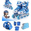 Kids Sports Blue Inline Skate Set