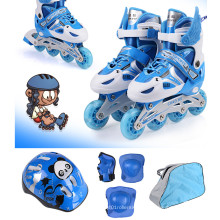 Kids Sports Blue Inline Skate Set