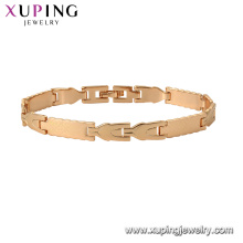 75129 Xuping fashion bracelet gold hand chain fashion gold design charm bracelet for unisex